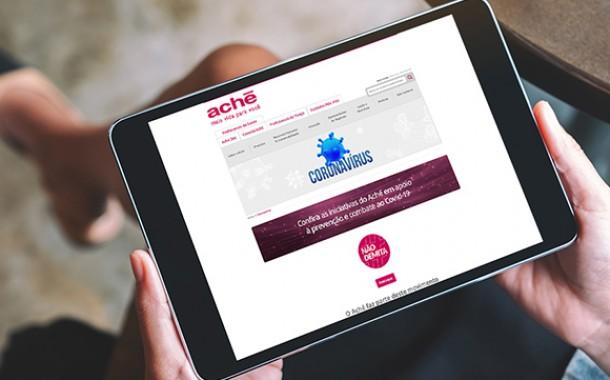 Aché reúne informações sobre suas iniciativas durante a pandemia em página oficial no site