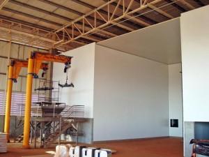 A maior parte das instalações foi construída com paineis SL