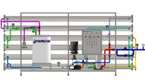 Equipamento de Osmose Reversa  com capacidade 10 m3/h. Fotos: Divulgação Permution