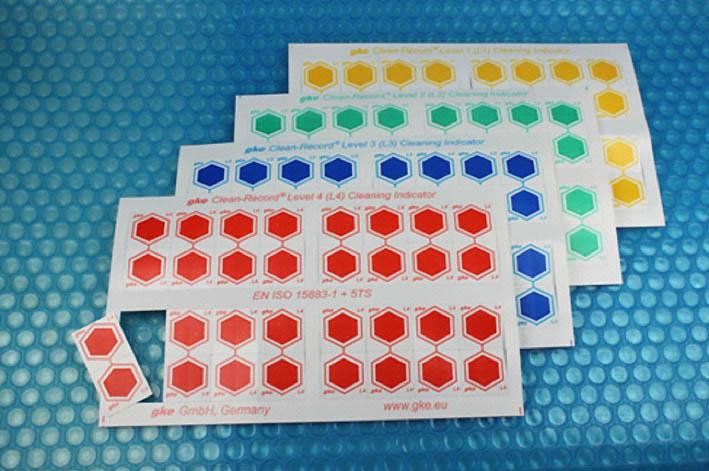 Figura 2 - Indicadores de limpeza multinível para termodesinfectora - fonte www.gke.de