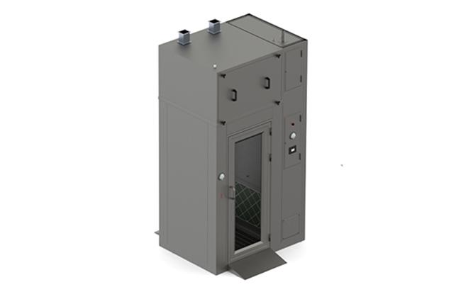Chuveiros de ar com pulverização Mist + Airshower para Salas Limpas