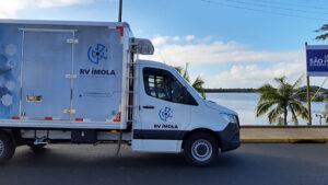 Transporte das vacinas até o embarque. RV Ímola.